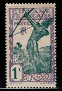 French Guiana Scott 109 MH* stamp expect similar centering