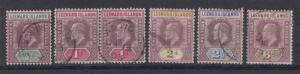 Leeward Islands KEVII Collection of 6 To 6d VFU J1418