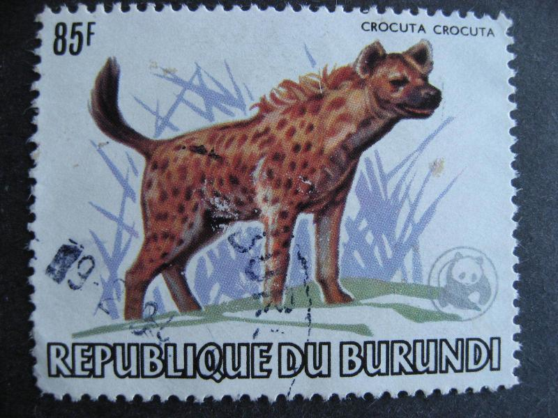 Burundi WWF Sc 601a postally used, but a thin and scuff, see pictures
