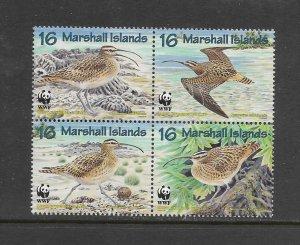 BIRDS - MARSHALL ISLANDS #638  CURLEW WWF (FORMAT 1)  MNH