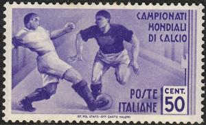 Italy 1934 50c Violet World Cup MH