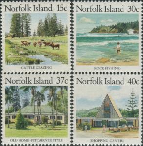 Norfolk Island 1987 SG409-412 Scenes MNH