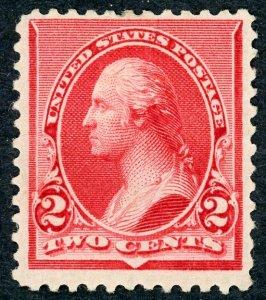 #220 – 1890 2c Washington, carmine. MLH OG