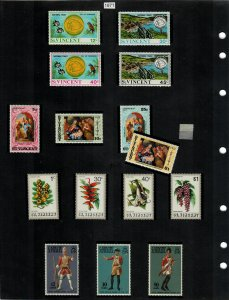 St Vincent Selection of 59 Stamps MH/MNH (SCV $20.60) Starting at 5%