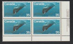 Canada 814 whale - MNH - block