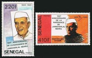 Senegal 841-842,MNH.Mi 1039-1040. Jawarharlal Nehru,1st Prime Minister of India.