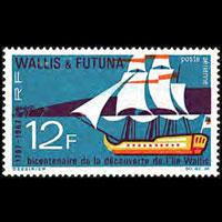 WALLIS & FUTUNA 1967 - Scott# C29 Sailing Set of 1 LH thin