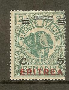 Eritrea, Scott #82, 5c on 2b Somalia, VG-F Centering, Unused