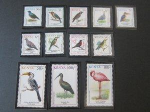 Kenya 1993 Sc 594,7,600,602-10 bird MNH