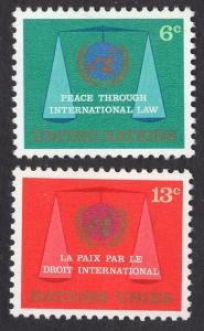 United Nations  New York  #197-198 1969  MNH  law commission