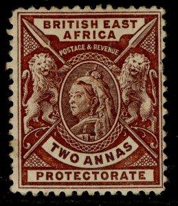 BRITISH EAST AFRICA QV SG67, 2a chocolate, M MINT. Cat £14.