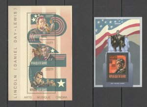 ST1309 2013 GUINEA CINEMA MOVIES LINCOLN KB+BL MNH STAMPS
