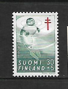 FINLAND, B162,MINT HINGED, SURCHARGED OTTER