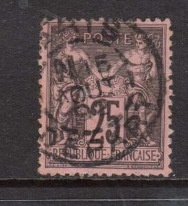 France #93 VF Used With CDS Cancel
