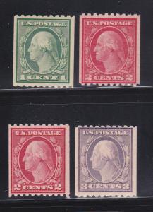 United States 486-489 Set MH George Washington