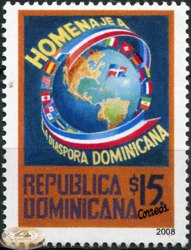 Dominican Republic. 2008. Tribute to the Diaspora of Dominican Republic (MNH OG)