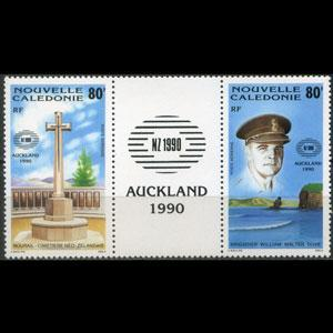 NEW CALEDONIA 1990 - Scott# C219a Mil.Cemetery Set of 2 NH