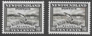 Newfoundland Scott Number 193 Color Error VF NH