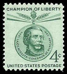 PCBstamps   US #1117 4c Lajos Kossuth, 1958, MNH, (3)