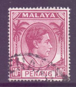 Malaya Penang Scott 11 - SG11, 1949 George VI 10c used