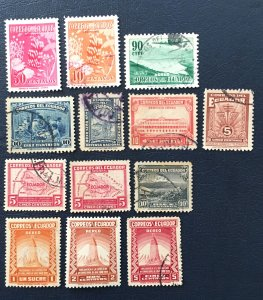 Ecuador Stamps 1939-1947, Airmail, Empire State Building,