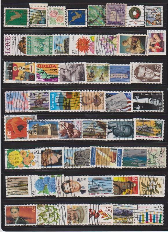 LOT OF DIFFERENT STAMPS OF USA USED (51) LOT#US251