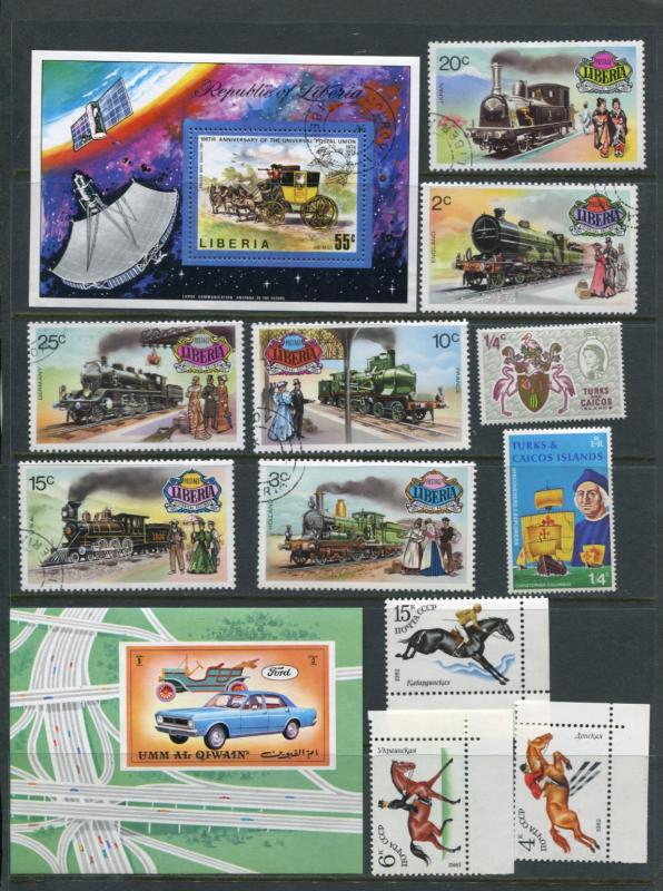 Transport 2 Sheets+stampMNH/Used/CTO  2299hs