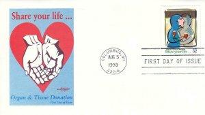 1998, Organ & Tissue Donation, Artmaster, FDC (D13533)