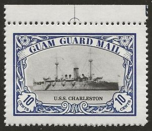 Guam Guard Mail 1978 Local Post U.S.S. Charleston Ship VF-NH, dull gum