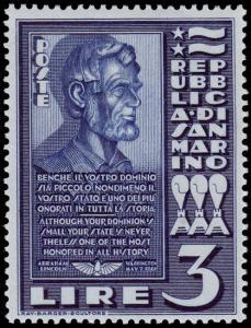 San Marino Scott 186 (single stamp) (1938) Mint LH VF