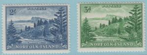 Norfolk Island 23 - 24 Postfrisch mit Scharnier Og - No Fehler Sehr Guter