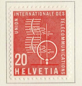Switzerland Helvetia 1958 Early Issue Fine Mint Hinged 20c. NW-170837