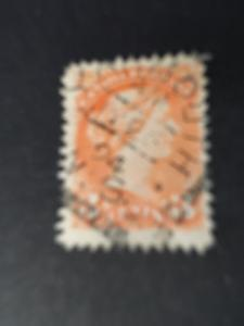 Canada #41 3c Small Queen Showing Almost Full Strike YARMOUTH/AM/JY26/94/N.S.