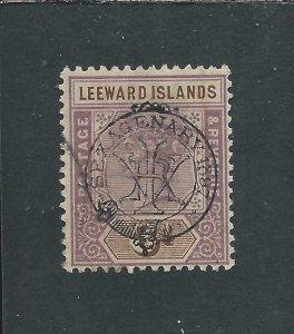 LEEWARD IS 1897 6d DULL MAUVE & BROWN GU SG 13 CAT £130