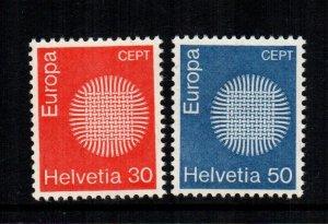 Switzerland  515 - 516  MNH cat $ 2.00