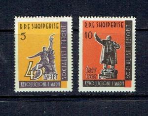 ALBANIA - 1963 OCTOBER REVOLUTION - SCOTT 647 TO 648 - MNH