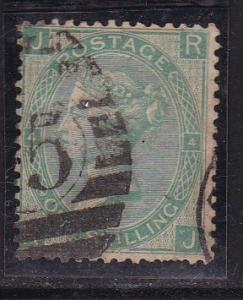 Great Britain 1865 Plate Nr.-4   1sh green   VF/used