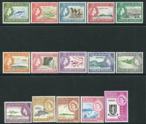 BRITISH VIRGIN ISLANDS-1964-68 Set to $2.80 Sg 178-192 LIGHTLY MOUNTED MINT