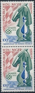 [I263]  Republic of Niger 1973 Chess good set of stamps in pair very fine MNH