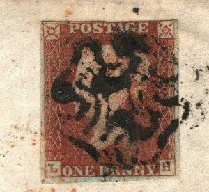 GB Cover SCOTS MALTESE CROSS *Fort William* 1842 Bolton Banker {samwells}NN173