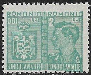 ROMANIA 1941 2L+2L AVIATION FUND REVENUE BFT.81 MLH