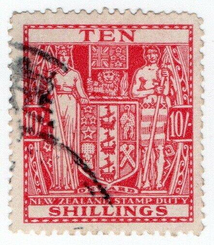 (I.B) New Zealand Revenue : Stamp Duty 10/-