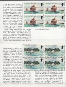 Cayes of Belize, SW6-7, MNH, 1984, Half Moon Caye
