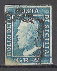 COLLECTION LOT OF #1107 ITALIAN STATES SICILY # 13g 1859 CV=$120