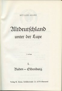 Germany, Mueller Mark, 1985 Altdeutschland unter der Lupe, in German, Vol. I