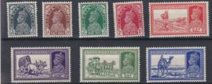 INDIA  1937    S G  247 - 254  VARIOUS VALUES TO 3A 6P   MH  CAT £60