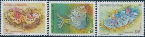 New Caledonia 2012 SG1554-1556 Nudibranches set MNH