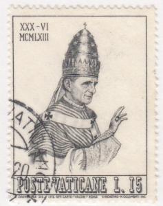 Vatican City, Sc # 365, Used, 1963, Pope Paul VI
