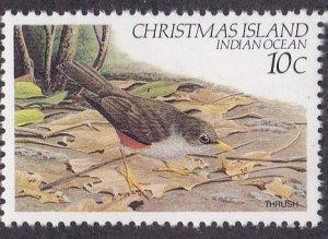 Christmas Island # 122, Birds - Thrush, NH