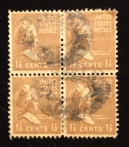 US Sc 805 Used Zip Block Of Four F-VF